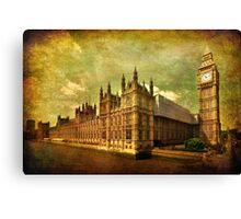 House Of Parliament - London Canvas Print