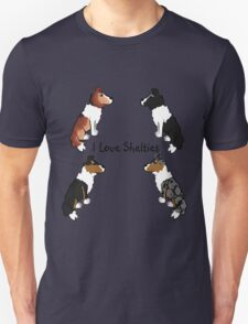 I Love Shelties! T-Shirt