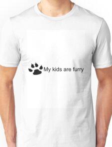 My Kids Are Furry (Dog Paw) Unisex T-Shirt