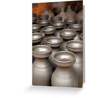 Drying Pots Bhakatpur Greeting Card