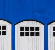 Bath cabins in blue and white Sticker