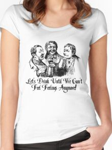 Let's Drink! Women's Fitted Scoop T-Shirt