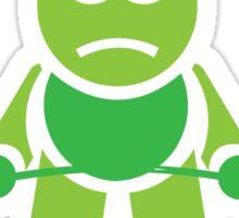 Cute Weightlifting Cartoon Robot (Deadlift) Sticker