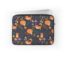 Foxes in magic forest Laptop Sleeve