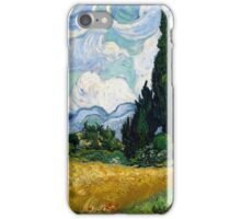 Wheat Field with Cypresses by Vincent van Gogh iPhone Case/Skin