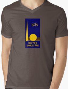 1939 Worlds Fair Mens V-Neck T-Shirt