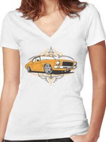 All Heil the Holden Women's Fitted V-Neck T-Shirt