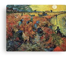 The Red Vineyard by Vincent van Gogh Canvas Print