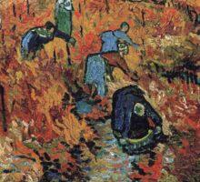 The Red Vineyard by Vincent van Gogh Sticker