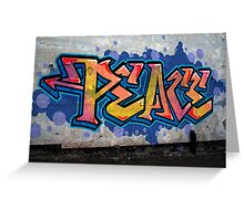 PEACE Graffiti Greeting Card