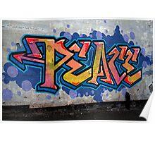 PEACE Graffiti Poster