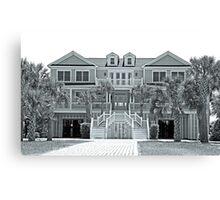 Beautiful home in b&w-SC Canvas Print
