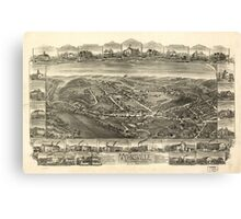 Panoramic Maps Mohnsville Pennsylvania 1898 Canvas Print