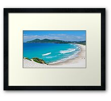 The Beach Below Framed Print