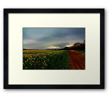 Walking Home along the Teesdale Way trail, North England. April Evening. Framed Print