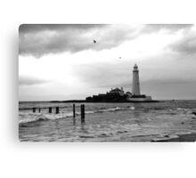 BnW Lighthouse Canvas Print