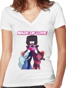 Made of Love Women's Fitted V-Neck T-Shirt
