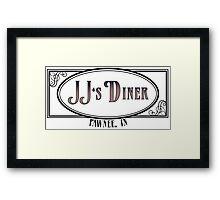 JJ's Diner - Parks and Recreation Framed Print