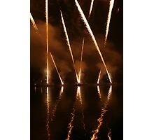 Fireworks on water 3 Photographic Print