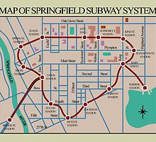 Springfield Subway System Map by WoodenDuke