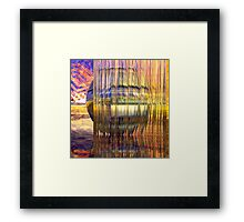 Definition of Design // Behind the Shining Glass Framed Print