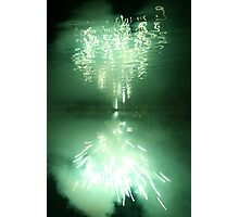 Fireworks on water 4 Photographic Print