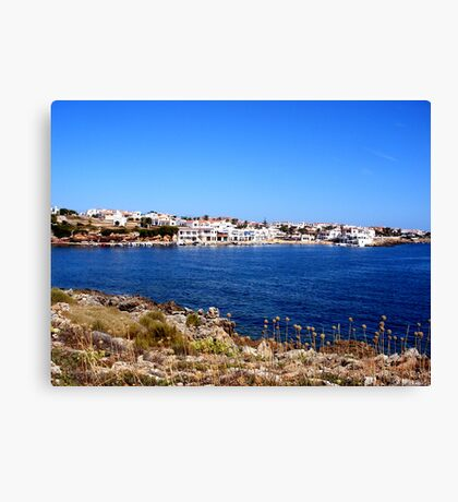 The Bay Of Fornells Canvas Print