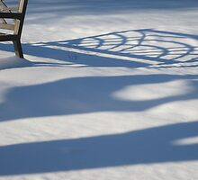 Shadow of a Bench on Snow by denisespictures