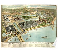 Panoramic Maps Bird's eye view of the World's Columbian Exposition Chicago 1893 Poster