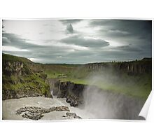 Crazy views of Iceland, Gullfoss. Poster