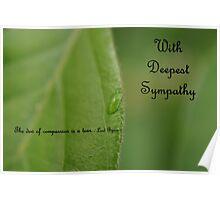 Sympathy Card 1 Poster