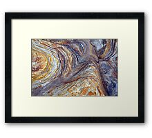 sandstone layer art Framed Print