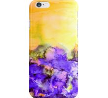 INTO ETERNITY, YELLOW AND LAVENDER PURPLE Colorful Watercolor Painting Abstract Art Floral Landscape Nature Fine Art iPhone Case/Skin