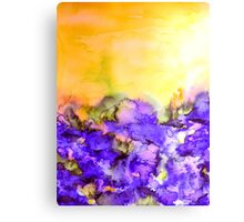 INTO ETERNITY, YELLOW AND LAVENDER PURPLE Colorful Watercolor Painting Abstract Art Floral Landscape Nature Fine Art Canvas Print