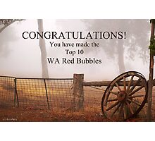 WA Red Bubble Banner Entry Photographic Print