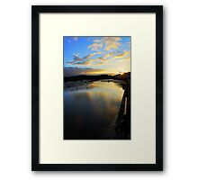 Sunset River at Wivenhoe Framed Print