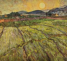 Enclosed Field with Rising Sun by Vincent van Gogh by Robert Partridge