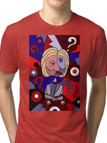 Funny Cool Hillary Clinton Puzzle Art Tri-blend T-Shirt