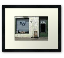 Open & Closed Framed Print
