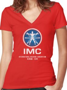 International Machine Consortium (worn look) Women's Fitted V-Neck T-Shirt