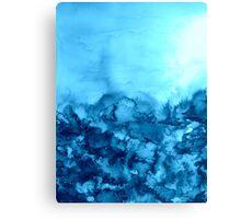 INTO ETERNITY, TURQUOISE Colorful Aqua Blue Watercolor Painting Abstract Art Floral Coastal Landscape Nature Fine Art Canvas Print