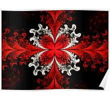 Red Elliptic Butterfly  Poster