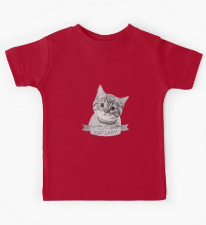 """""""Cat Lady"""" stickers, phone cases, t-shirts, and more! Kids Tee"""