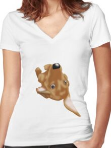 Mon petit Jolie 2 Women's Fitted V-Neck T-Shirt