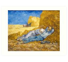 Noon – Rest from Work (after Millet) by Vincent van Gogh Art Print