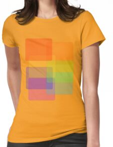 Rainbow Shapes Womens Fitted T-Shirt