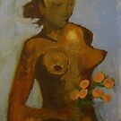 nude with flowers by Alfred Gillespie