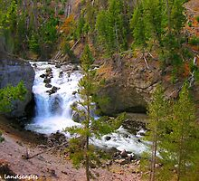 Firehole falls flowing freely by Erykah36