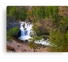 Firehole falls flowing freely Canvas Print