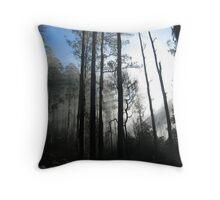Sun in trees Throw Pillow